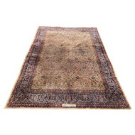 Early 20th c Room Size Kashan Persian Rug or Carpet