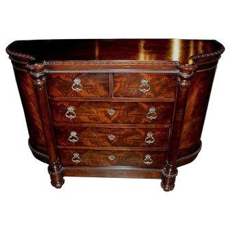 Century Furniture Mahogany Credenza or Server with Cabinets Flanking Drawers