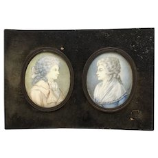 Gustav Friedrich Amalius Taubert Pair of Portrait Miniatures