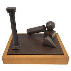 Herk Van Tongeren Abstract Bronze, Serie Metafisica XIV, 1981