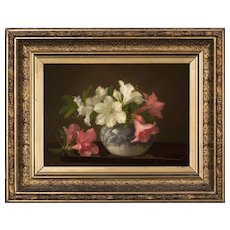 Anna Eliza Hardy Oil Painting Still Life,  Bowl of Flowers