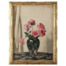Hermann Dudley Murphy Oil Painting Still Life, Roses
