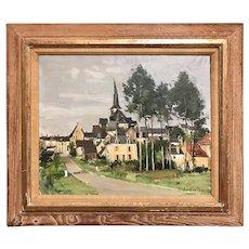 Constant Le Breton French Oil Painting Townscape, Le Vieil Baugé