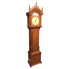 Tiger Maple Heritage Heirlooms Tall Case Clock with Grand Sonnerie Movement