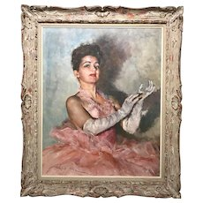 Pal Fried Oil Painting Portrait of a Woman, Mona Lisa