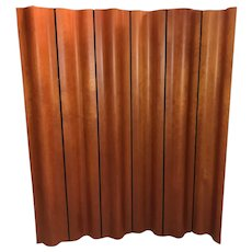 Eames Cherry Plywood Six Panel Folding Screen for Herman Miller