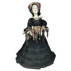 19th c Peddler Woman Doll, Probably English
