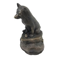 Barbara Faucher Cast Bronze Sculpture of a Small Fox