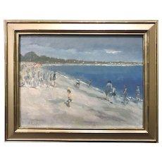 Stephen Motyka Modern Impressionist Coastal Oil Painting, Connecticut Beach