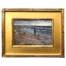 Stephen Motyka Modern Impressionist Coastal Oil Painting, Brittany Beach