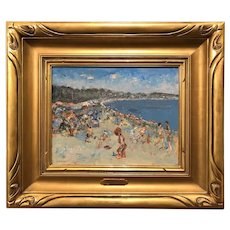 Stephen Motyka Modern Impressionist Coastal Oil Painting, Guilford, Connecticut Beach