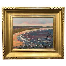 Stephen Motyka Modern Impressionist Coastal Oil Painting, Second Beach, Newport RI