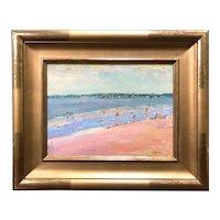 Stephen Motyka Modern Impressionist Coastal Oil Painting, Horseback Beach