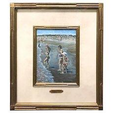 Stephen Motyka Modern Impressionist Coastal Oil Painting, Beach at Watch Hill