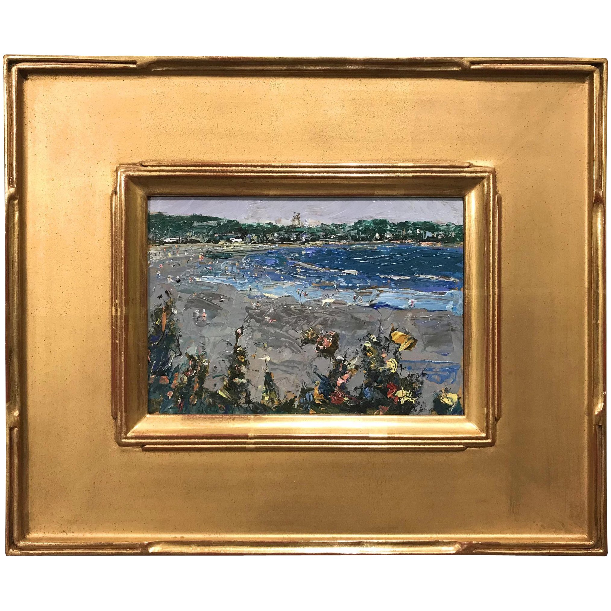 Stephen Motyka Modern Impressionist Small Coastal Oil Painting