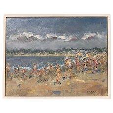 Stephen Motyka Modern Impressionist Small Coastal Oil Painting, Watch Hill, RI