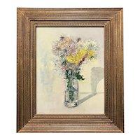 Stephen Motyka Modern Impressionist Still Life Oil Painting, Yellow Flowers