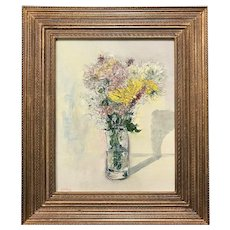 Stephen Motyka Modern Impressionist Still Life Oil Painting, Yellow Flowers
