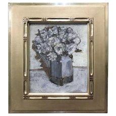 Stephen Motyka Modern Impressionist Still Life Oil Painting, Blue Vase