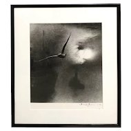 Bill Brandt Hand Signed Black & White Photograph - Early Morning on the Thames, London Bridge