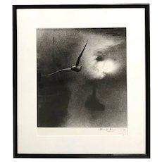 Bill Brandt Hand Signed Black & White Photograph - Early Morning on the Thames, London Bridge
