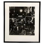 Bill Brandt Hand Signed Black & White Photograph -Taxi, Lower Regent Street, London