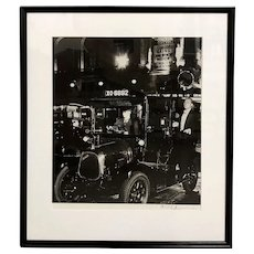 Bill Brandt Hand Signed Black & White Photograph -Taxi, Lower Regent Street, London