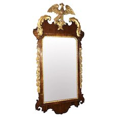 18th Century George III Mirror in Mahogany