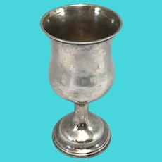 John Kitts Coin Silver Cup, Engraved Towles, Kentucky L. AG Society 1857