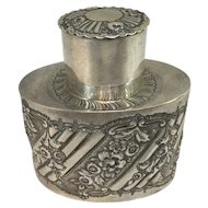 George Maudsley Jackson English Sterling Silver Tea Caddy circa 1893