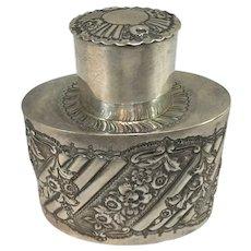 George Maudsley Jackson English Sterling Silver Tea Caddy circa 1893