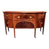 Demilune Mahogany Sideboard with Butler's Desk owned by Nathaniel Silsbee of Salem