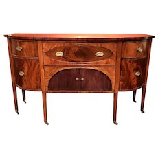 Demilune Mahogany Sideboard with Butler's Desk and Daniel Webster Provenance circa 1810