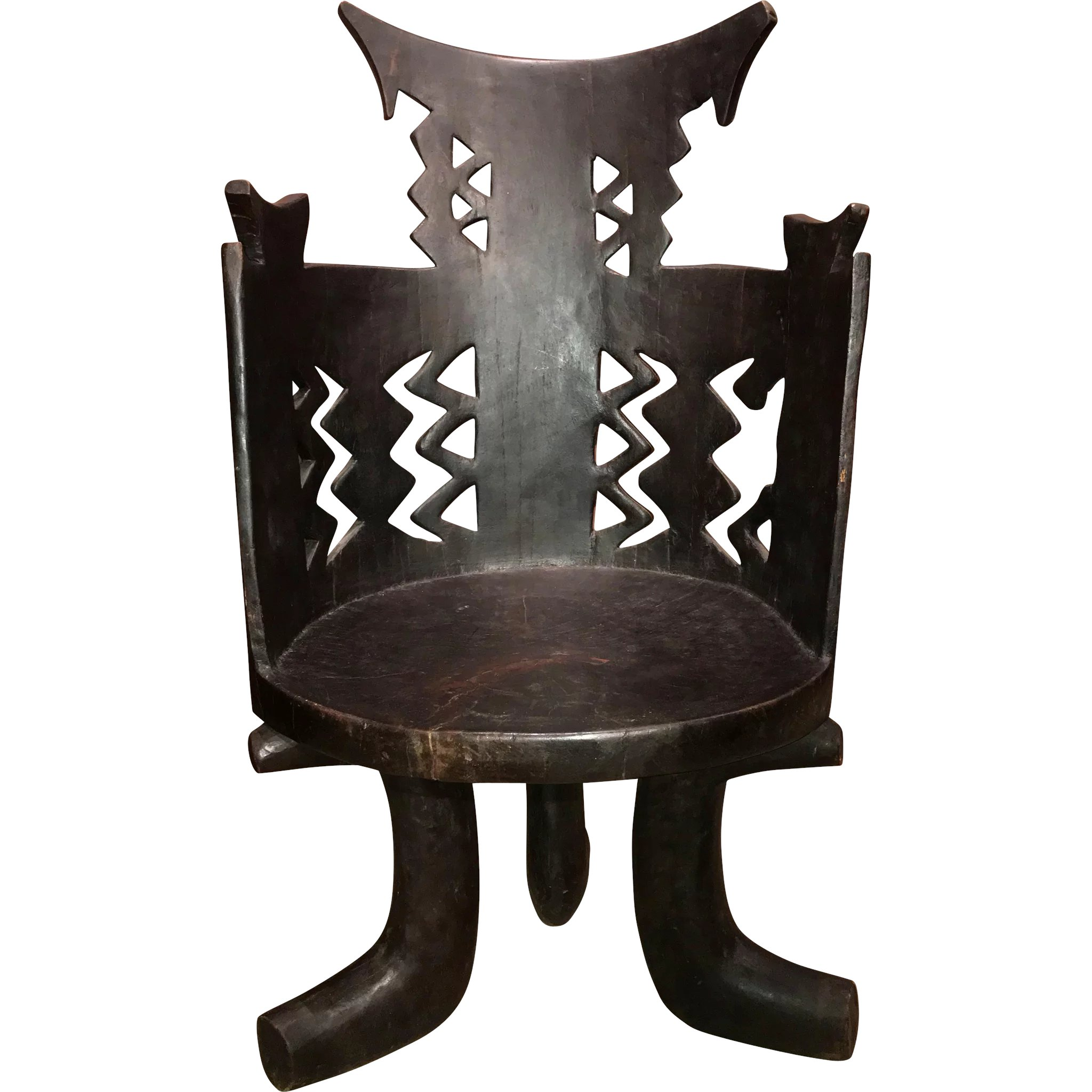 Sensational Gurage Tribal Carved Wanza Wood Throne Jimma Chair From Ethiopia Beutiful Home Inspiration Ommitmahrainfo