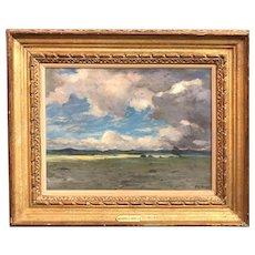 Albert Lorey Groll Oil Painting, Southwestern Landscape