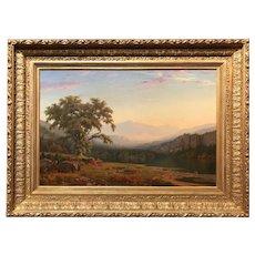 William Frederick De Haas Oil Painting Landscape, Mt. Washington, NH