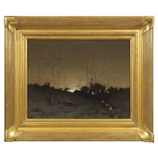 Luther Emerson Van Gorder Oil Painting, Nightfall, 1886