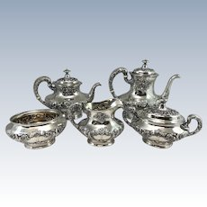 5 pc Gorham Sterling Silver Tea Service in the Buttercup Pattern