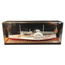Steamer Mt. Washington 1:24 Scale Wooden Ship Model Lake Winnipesaukee NH 1976