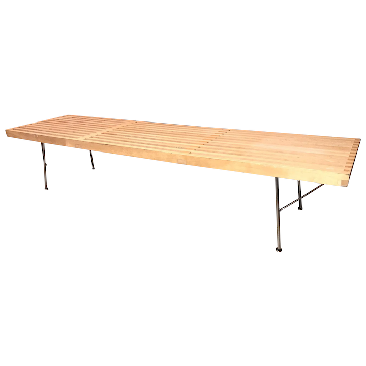 Excellent George Nelson Maple And Chrome Platform Bench Made For Herman Miller Theyellowbook Wood Chair Design Ideas Theyellowbookinfo