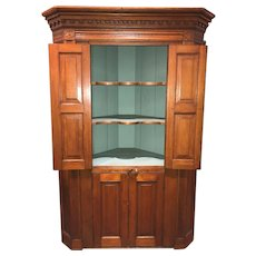 Raised Panel Pine Four-Door Cupboard circa 1800 Probably Mid Atlantic States