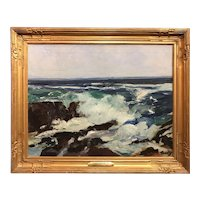 Frederick Judd Waugh Seascape Oil Painting, Surf & Spindrift