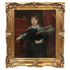 19th Century Oil Painting Portrait of a European Aristocratic Boy or Prince