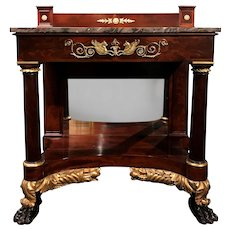Exceptional New York Federal Mahogany Pier or Console Table, circa 1825