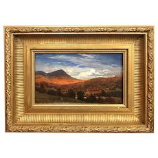 Erik Koeppel White Mountain Landscape Oil Painting, Doublehead Autumn Clouds, Jackson NH