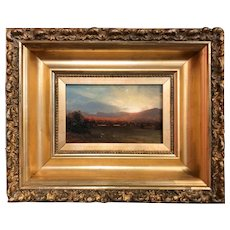 Erik Koeppel White Mountain Landscape Oil Painting, Sunrise In Jackson