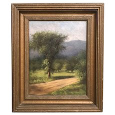 Harriette Wood Robinson White Mountain Landscape Oil Painting, Moat Mountain 1900