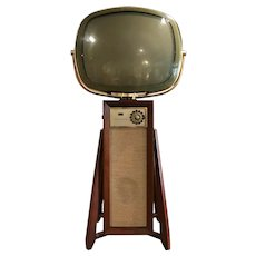 1960 Philco Predicta Continental 4730 Swivel Screen Television TV with Console