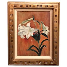 Hayley Lever Oil Painting, Still Life with Lilies
