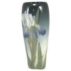 Beautiful Rookwood Art Pottery Glaze Vase Decorated with Irises by Lenore Asbury 1906